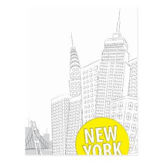 Nueva York, Nueva York Tarjeta Postal
