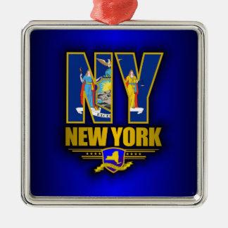 Nueva York (NY) Adorno Cuadrado Plateado