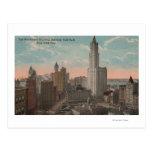 Nueva York, NY - edificio y ayuntamiento de Tarjeta Postal