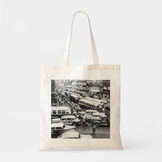 Nueva York, NY en mediados de 1940 s Bolsa Tela Barata