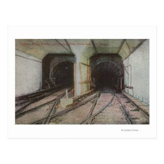 Nueva York, NY - túnel del río Hudson, subterráneo Postales