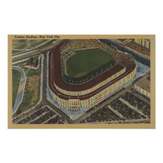 Nueva York, NY - Yankee Stadium del aire #1 Poster