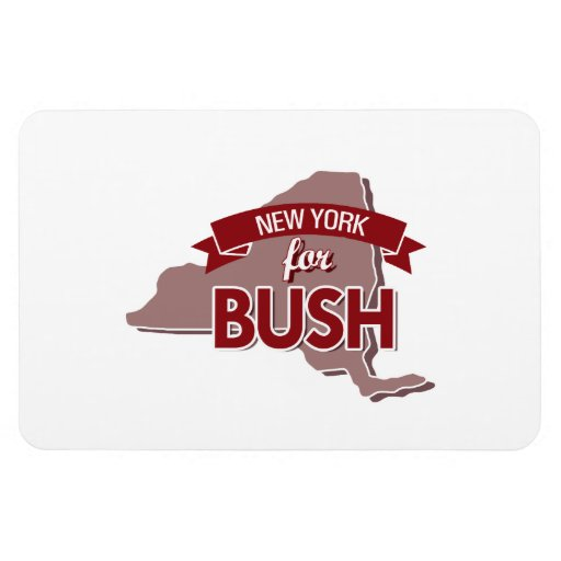NUEVA YORK PARA BUSH - .PNG IMÁN RECTANGULAR