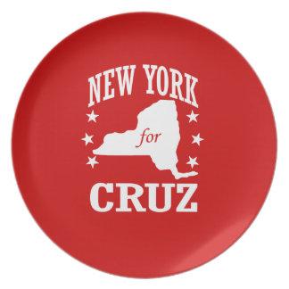 NUEVA YORK PARA CRUZ DE TED PLATO PARA FIESTA
