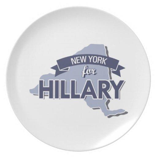 NUEVA YORK PARA HILLARY - .PNG PLATOS PARA FIESTAS