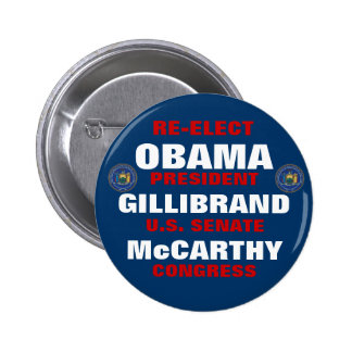 Nueva York para Obama Gillibrand McCarthy Pin