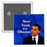 Nueva York para Obama Pins