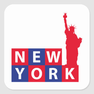 Nueva York Pegatina Cuadrada