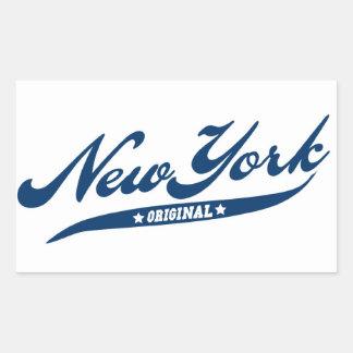 Nueva York Pegatina Rectangular
