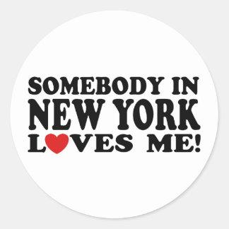 Nueva York Pegatina Redonda