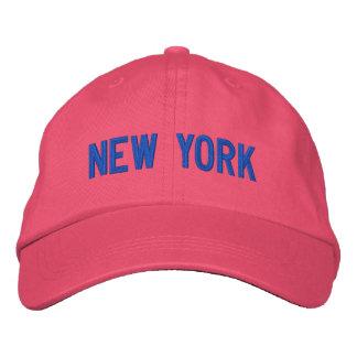 Nueva York personalizó el gorra ajustable Gorras Bordadas