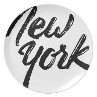 Nueva York Plato De Cena