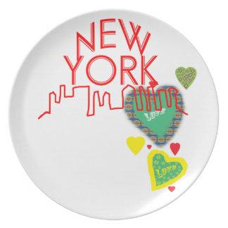 Nueva York Plato Para Fiesta