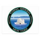 Nueva York polar verde Postal