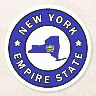 Nueva York Posavasos De Cartón Redondo