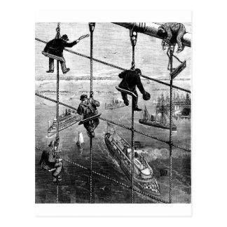 Nueva York, puente de Booklyn, 1883 Postal