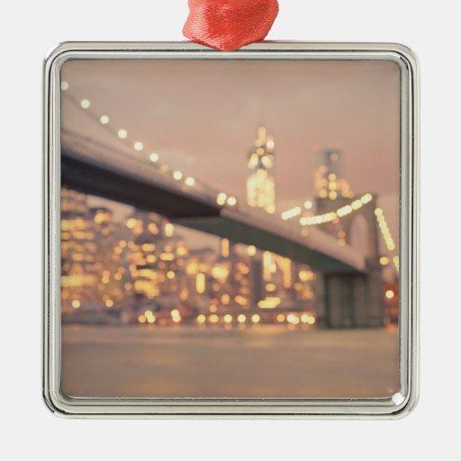 Nueva York - puente soñador de Bokeh Brooklyn Ornamento De Reyes Magos
