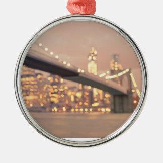 Nueva York - puente soñador de Bokeh Brooklyn Adorno Para Reyes
