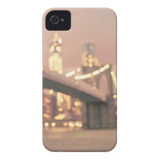 Nueva York - puente soñador de Bokeh Brooklyn iPhone 4 Case-Mate Cobertura