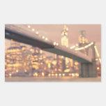 Nueva York - puente soñador de Bokeh Brooklyn Rectangular Altavoces