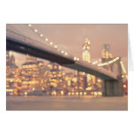 Nueva York - puente soñador de Bokeh Brooklyn Felicitación