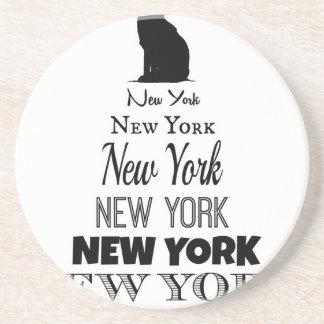 Nueva York que grita, coyote del perro, lobo - Posavasos Diseño