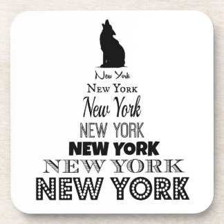 Nueva York que grita, coyote del perro, lobo - Posavasos