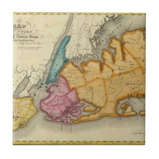 Nueva York, Queens, reyes, condados de Richmond Azulejo Cuadrado Pequeño