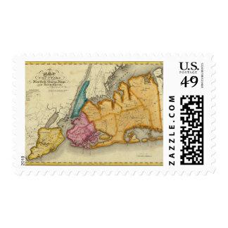 Nueva York, Queens, reyes, condados de Richmond Timbres Postales