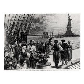 Nueva York - recepción a la tierra de la libertad Tarjetas Postales