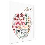Nueva York redacta la nube Impresiones En Lona