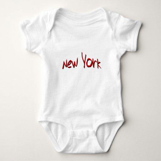 Nueva York roja Body Para Bebé