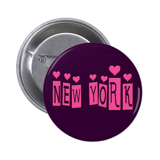 NUEVA YORK ROSADA CON LOS CORAZONES PIN