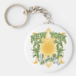 Nueva York solar Llavero Redondo Tipo Pin