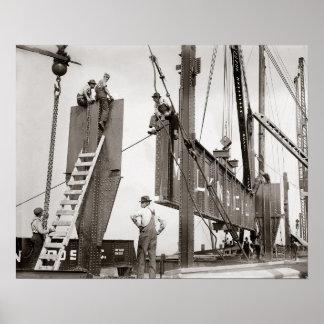 Nueva York Steelworkers, 1913 Póster