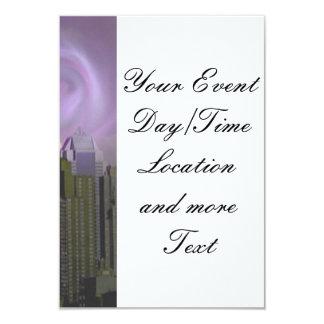 """Nueva York, sueño violeta Invitación 3.5"""" X 5"""""""