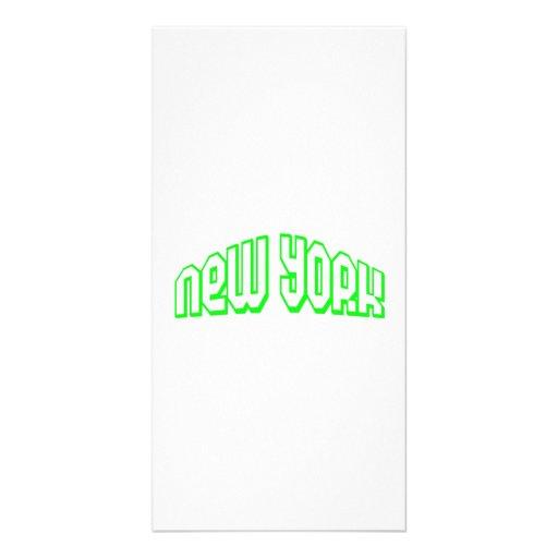 Nueva York verde Plantilla Para Tarjeta De Foto