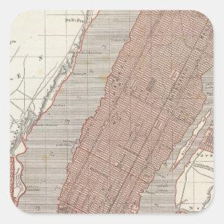 Nueva York y vecindad Pegatina Cuadradas Personalizada