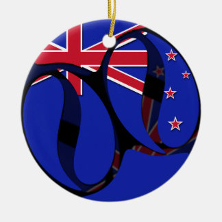 Nueva Zelanda #1 Adorno Navideño Redondo De Cerámica