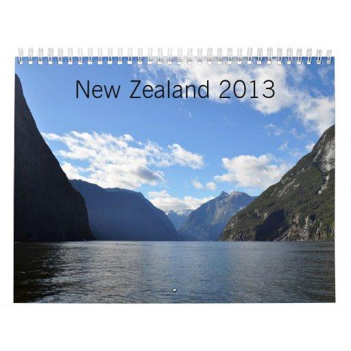 Nueva Zelanda 2013 Calendarios