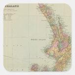 Nueva Zelanda 3 Pegatinas Cuadradases