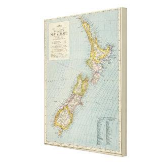 Nueva Zelanda 4 Impresiones En Lona