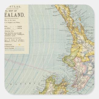 Nueva Zelanda 4 Pegatina Cuadrada