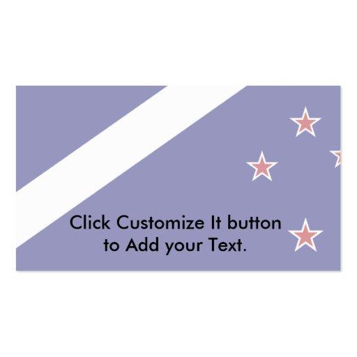 Nueva Zelanda (alternativa), bandera de Nueva Zela Tarjeta De Visita