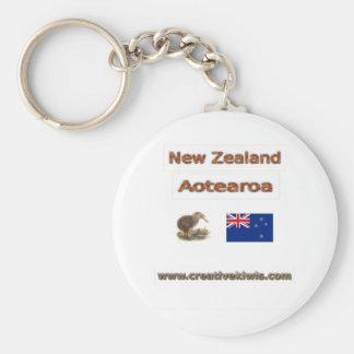 Nueva Zelanda Aotearoa Llavero Redondo Tipo Pin