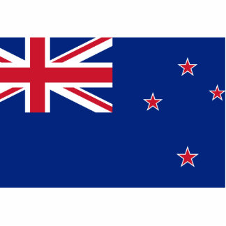 Nueva Zelanda, bandera de Nueva Zelanda Fotoescultura Vertical
