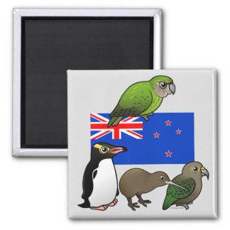 Nueva Zelanda Birdorables Imán Cuadrado