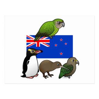 Nueva Zelanda Birdorables Postales