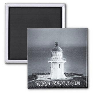 Nueva Zelanda, cabo Reinga BW (imán del Imán Cuadrado