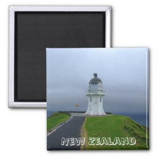 Nueva Zelanda, cabo Reinga (imán del refrigerador) Imán Cuadrado